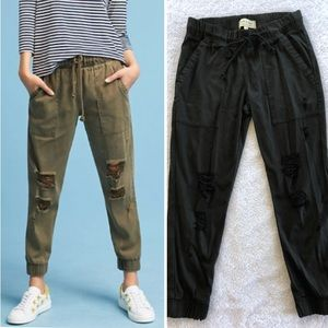 NWOT Cloth & Stone Distressed Tencel Jogger
